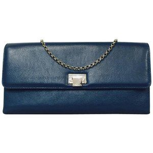 Tiffany & Co. Piper Convertible Clutch - Teal Blue